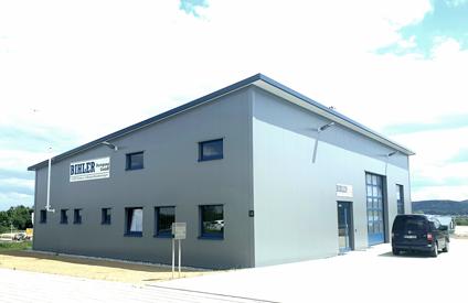 Bau der neuen Produktionshalle